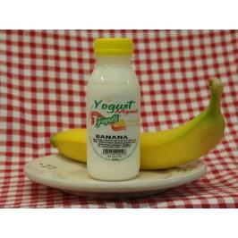 Yogurt artigianale alla banana con latte fresco