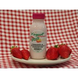 Yogurt artigianale alla fragola con latte fresco pugliese